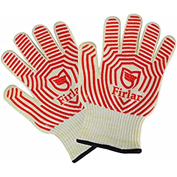 Firlar 932°F Extreme Heat Resistant Oven Gloves One Size Fit Most-- EN407 Certified BBQ Gloves For Cooking, Grilling, Baking