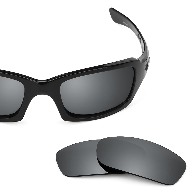 e9a99caac2 Amazon.com  Revant Polarized Replacement Lenses for Oakley Fives Squared  Elite Black Chrome MirrorShield  Sports   Outdoors