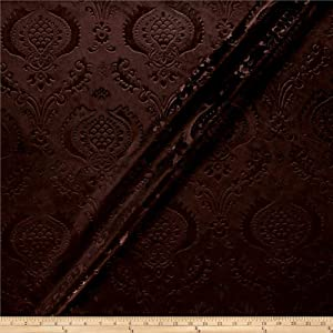 Unique Quality Fabrics Damask Embossed Velvet Chocolate Fabric By The Yard
