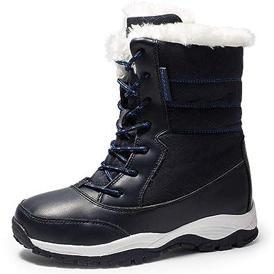 de0ec1be3337 Cusaby Damen Schneestiefel Mid Stiefeletten Warm Gefüttert Winterschuhe der  Frau Winter Stiefel Outdoor Boots Winterstiefel Bergstiefel