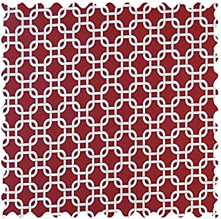 product image for SheetWorld Burgundy Links Fabric - By The Yard