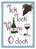 "DMC ""Tick Tock Wine o'Clock"" Cross Stitch Kit, 100 Percent Cotton, Multi-Colour"
