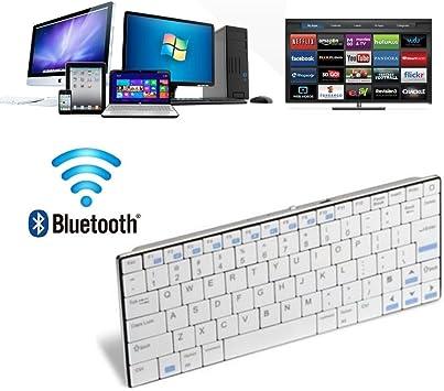 Novedades 2018) Original Rii i9 (K09) Wireless Bluetooth 3.0 (QWERTY) para iPad, Rapsberry, PC, portátil, Smart TV y Consolas de Juegos en Android, MacOS, Windows y Linux, Color Blanco.: Amazon.es: Electrónica