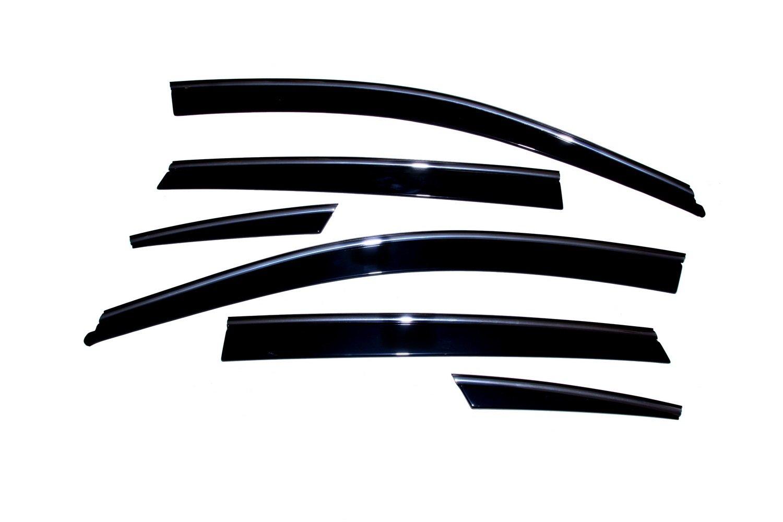 6-Piece Set for 2006-2010 Infiniti M35 M45 Auto Ventshade 796001 Low Profile Ventvisor Side Window Deflector with Chrome Trim