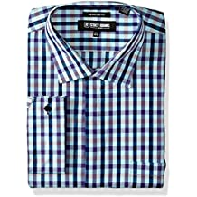 Stacy Adams Men's Big and Tall Multi Color Gingham Classic Fit Dress Shirt