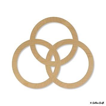Amazon Venn Diagram Circles Design Rings Wooden Shape Cutouts