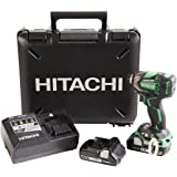 Hitachi WH18DBDL2 18V Pro Brushless Cordless Lithium Ion Triple Hammer Impact Driver Kit, 4 Speed Settings, 1,832 in/lbs Torque, Fast Charger w/ USB Port, IP 56 Rated, 2 - 3.0 Ah Compact Batteries