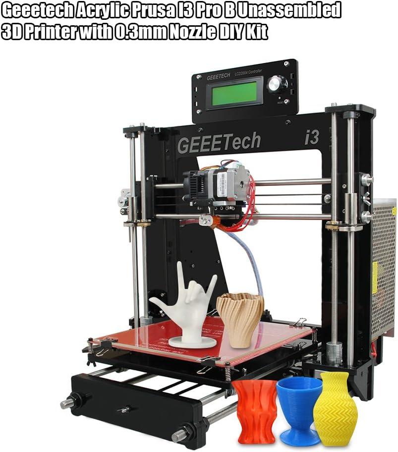 Geeetech Impresora 3D Acrílico I3 Pro B Desarmado con 0,3 mm ...