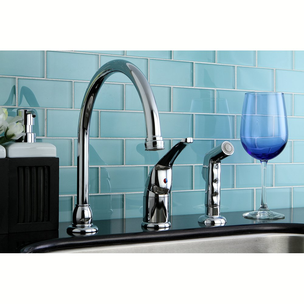 Kingston Brass KB828 Kitchen Faucet With Sprayer, Satin Nickel   Touch On  Kitchen Sink Faucets   Amazon.com