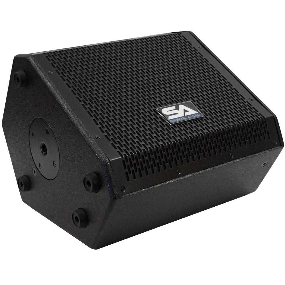 Seismic Audio - SAX-10M - Compact 10 Inch 2-Way Coaxial Floor / Stage Monitor with Titanium Horn - 200 Watts RMS - PA/DJ Stage, Studio, Live Sound 10 Inch Monitor