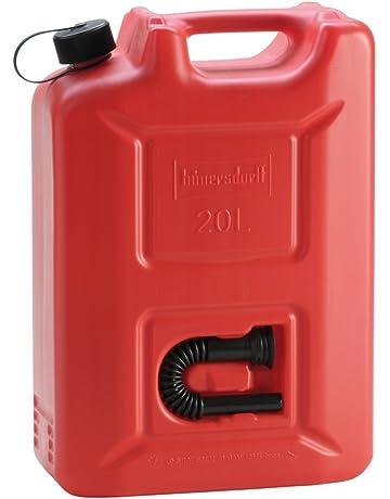 Hünersdorff Bidón para carburante PROFI (UN) 20 L Rojo, homologación UN, PEAD