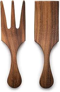 Ironwood Gourmet Farmhouse Utensil Set, 1.75 x 2.75 x 10 inches, Large Tulip Salad Bowl