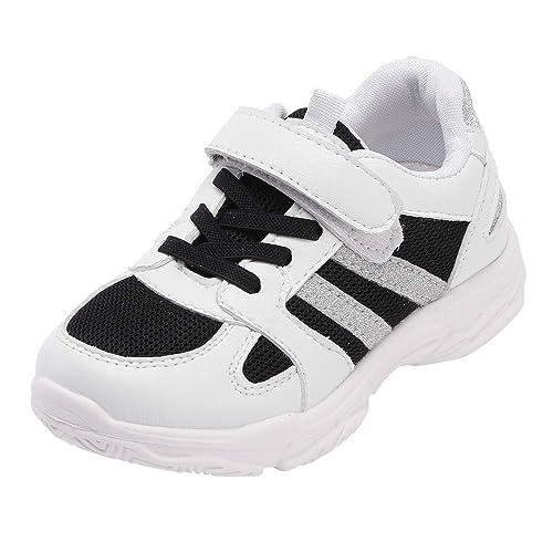 ALIKEEY Niño Bebé Niños Niñas Bling Deporte Running Transpirable Malla Zapatillas Casual Zapatos Lona Estilo Deportivas Unisex Mocasines Bebé, ...