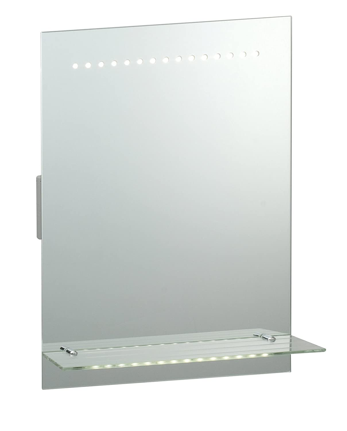 Saxby Omega 1W LED Motion Sensor Bathroom Mirror Light With Shaver Socket Shelf Amazoncouk Lighting