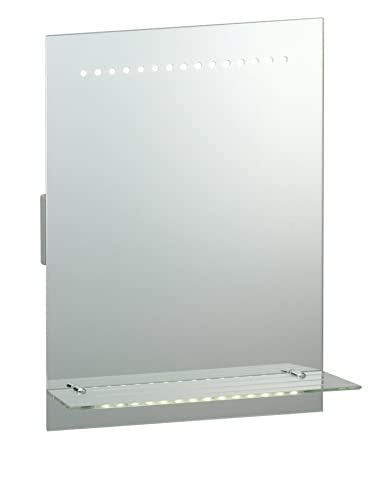 saxby omega 1w led motion sensor bathroom mirror light with shaver