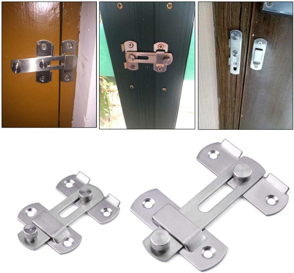 CARRYKT Porte /Épaissie en Acier Inoxydable Hasp Loquet Lock Sliding Lock Boucle pour Porte fen/être
