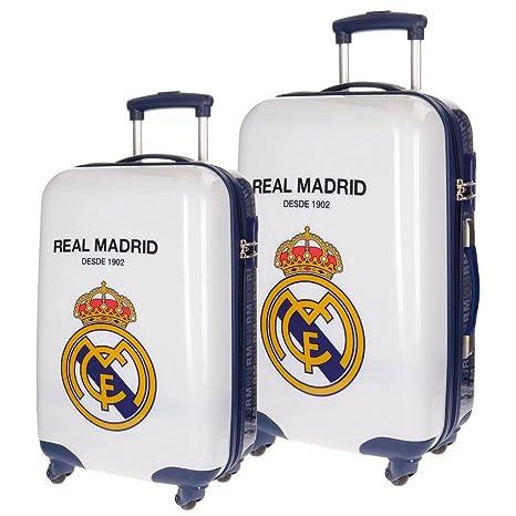 Real Madrid RM 1902 Equipaje Infantil, 67 cm, 86 litros, Blanco