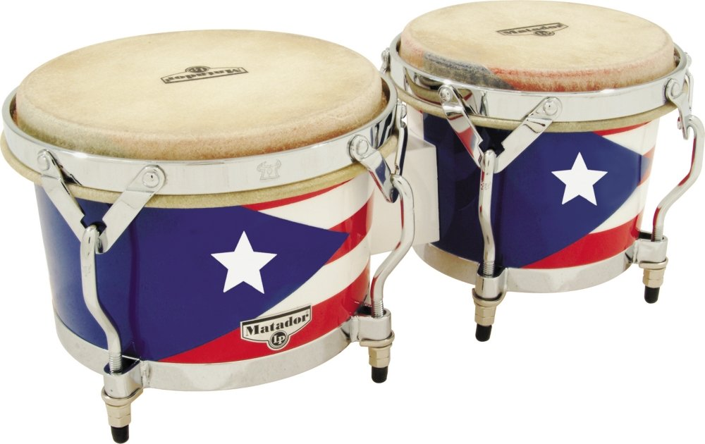 Latin Percussion Matador Puerto Rican Heritage Wood Bongos M201-PR