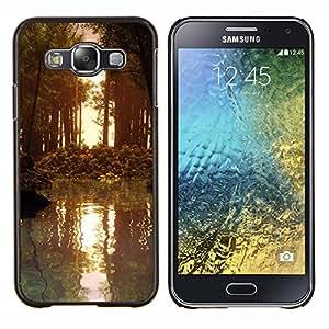 For Samsung Galaxy E5 E500 Case , Lago Ginebra Suiza- Diseño Patrón Teléfono Caso Cubierta Case Bumper Duro Protección Case Cover Funda