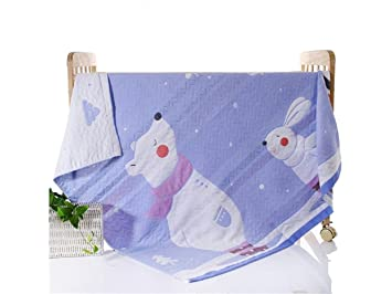 Paño de la Mano del Cuarto de baño Dibujos Animados Oso Polar Jacquard patrón Baby Gasa
