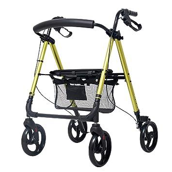 J. SCR Viejo Carro Amarillo Plegable, Caminante Ligero Discapacitados | Carrito De Compras | Sillón De ...