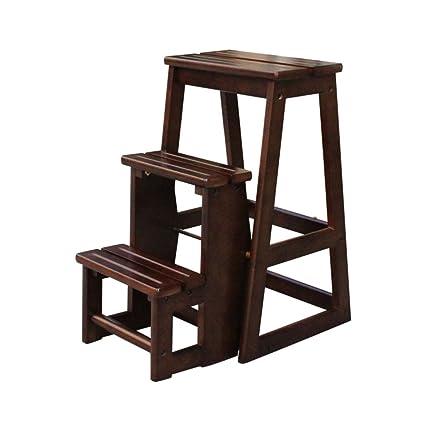 Kitchen stool Scale pieghevoli Scale a pioli Scala in legno massello ...