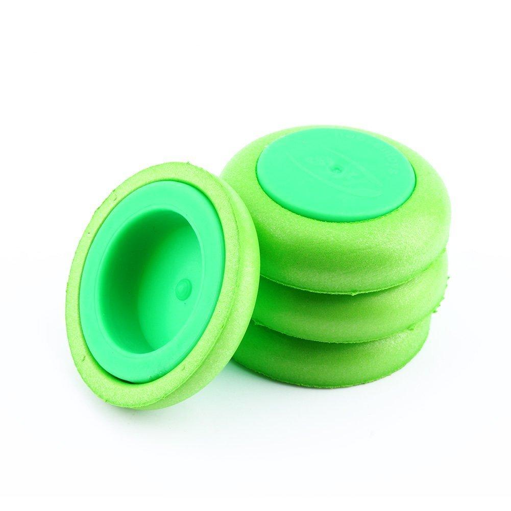 Yosoo 60 Pezzi Refill Discs Bullet per NERF VORTEX Blaster Proiettili di Ricarica Freccette Disco Bullets di Pistola del Giocattolo EVA Soft Dart Verde