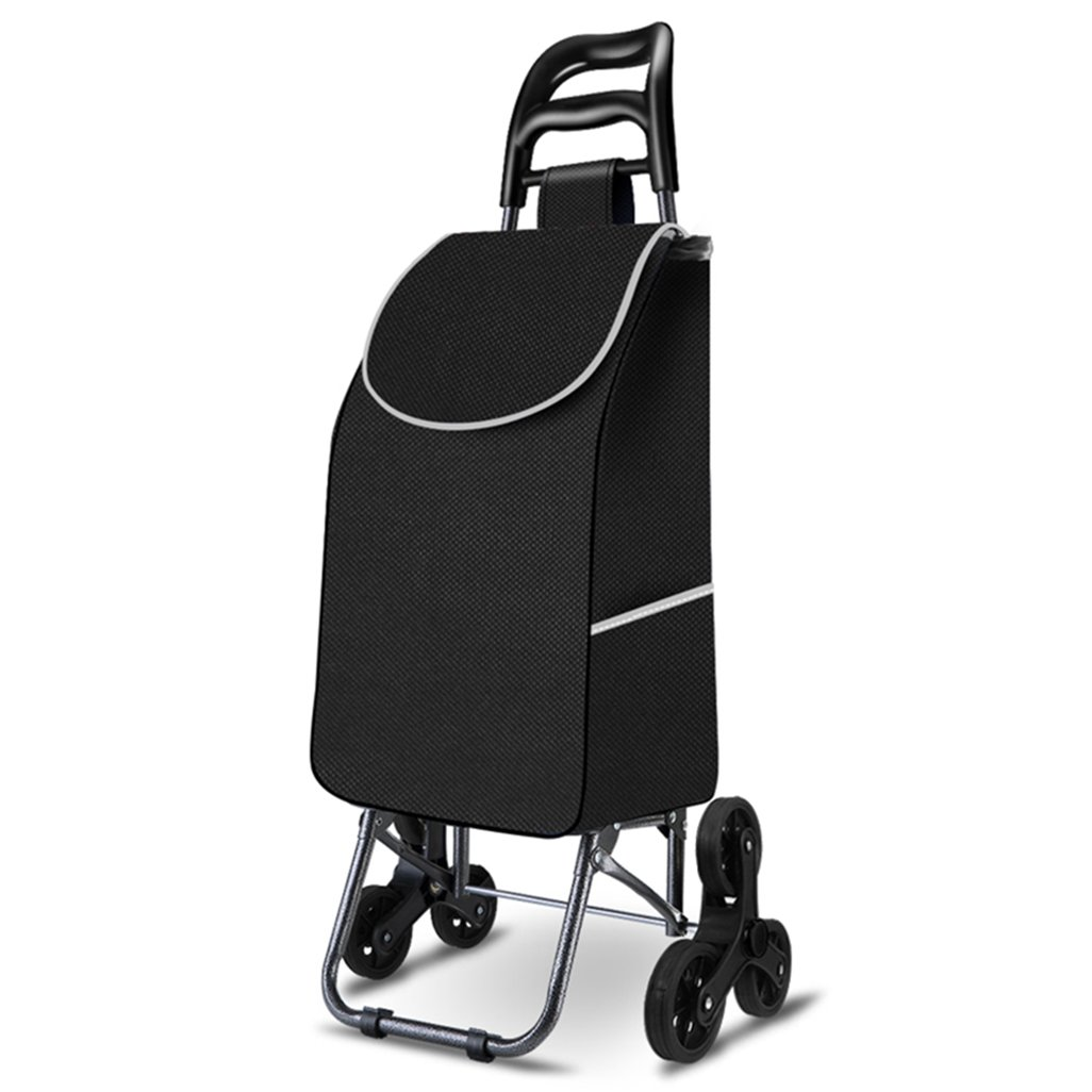 DNSJB ショッピングカート、老人、ショッピングカート、小型カート、トロリー、折り畳みトレーラー、トロリー、家庭、持ち運び可能な、耐久性のあるものを登る。 B07SM3QPBB