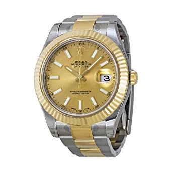 7787c947f35c Image Unavailable. Image not available for. Color  Rolex Datejust II  Champagne Dial 18k Two-tone Gold Mens Watch 116333CSO