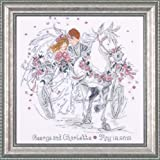Tobin 18 Count Wedding Carriage Counted Cross Stitch Kit, 12 by 12-Inch