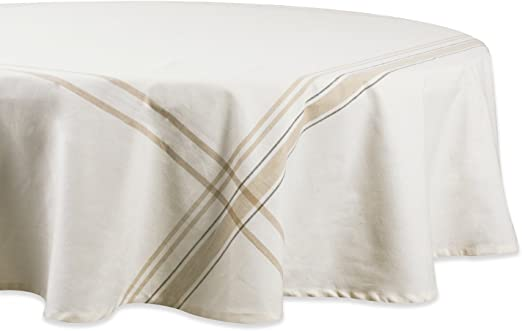 Everyday French Stripe Kitchen Tablecloth For Machine Washable DII 100/% Cotton