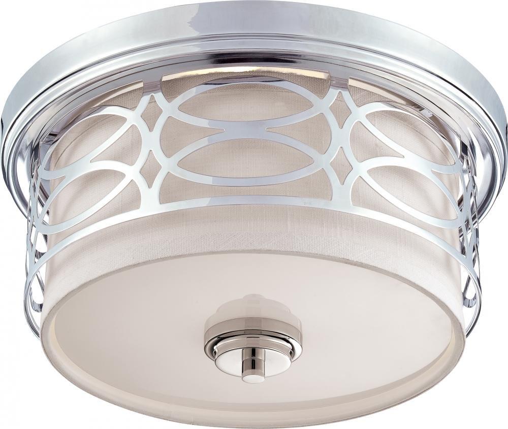 Small Flush Mount Light Fixture: Nuvo 60/4627 Harlow Polished Nickel Flush - Flush Mount Ceiling Light  Fixtures - Amazon.com,Lighting