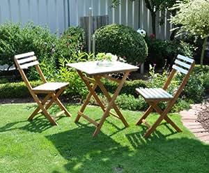Leco 33140100 - Set de mesa y silla de exterior