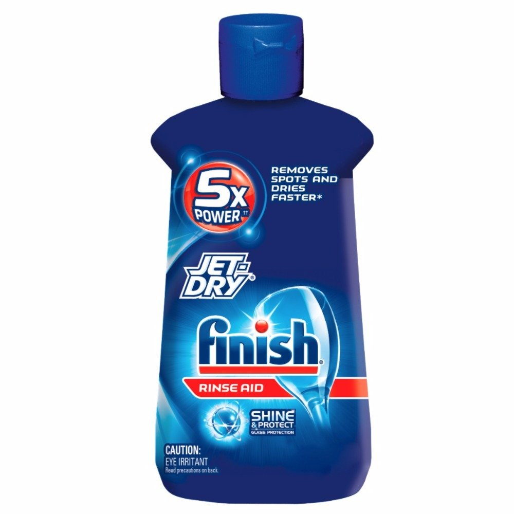 Finish Jet-Dry Rinse Aid, Dishwasher Rinse & Drying Agent, 8.45 oz (Pack of 7)