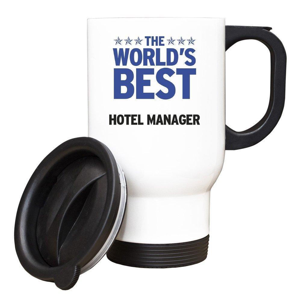 Qkidangfd BLUE Worlds Best Hotel Manager White Travel Mug 169