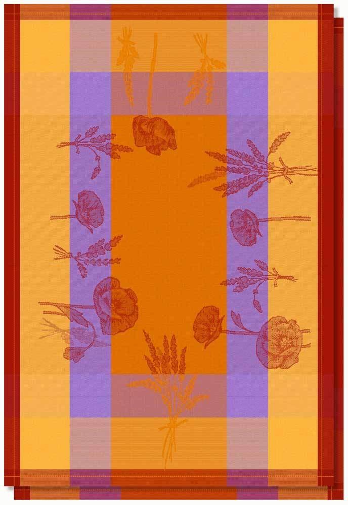Lot de 2 torchons Jacquard 50x70 cm 100/% Coton de qualit/é sup/érieure Coquelicot Orange
