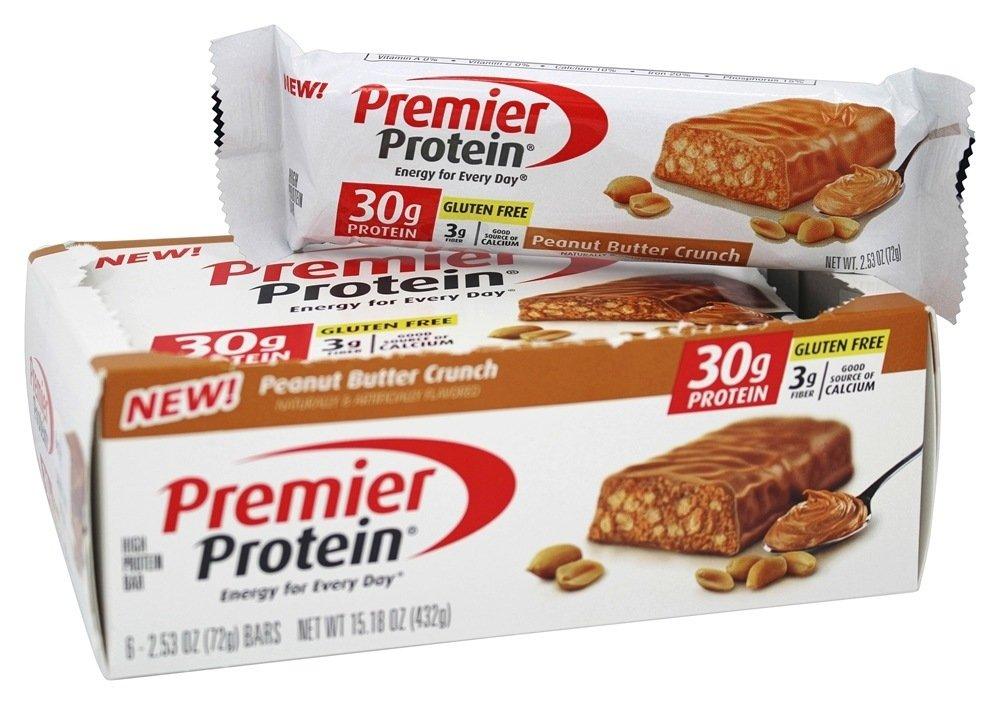 Premier Protein - High Protein Bar Peanut Butter Crunch - 6 Bars