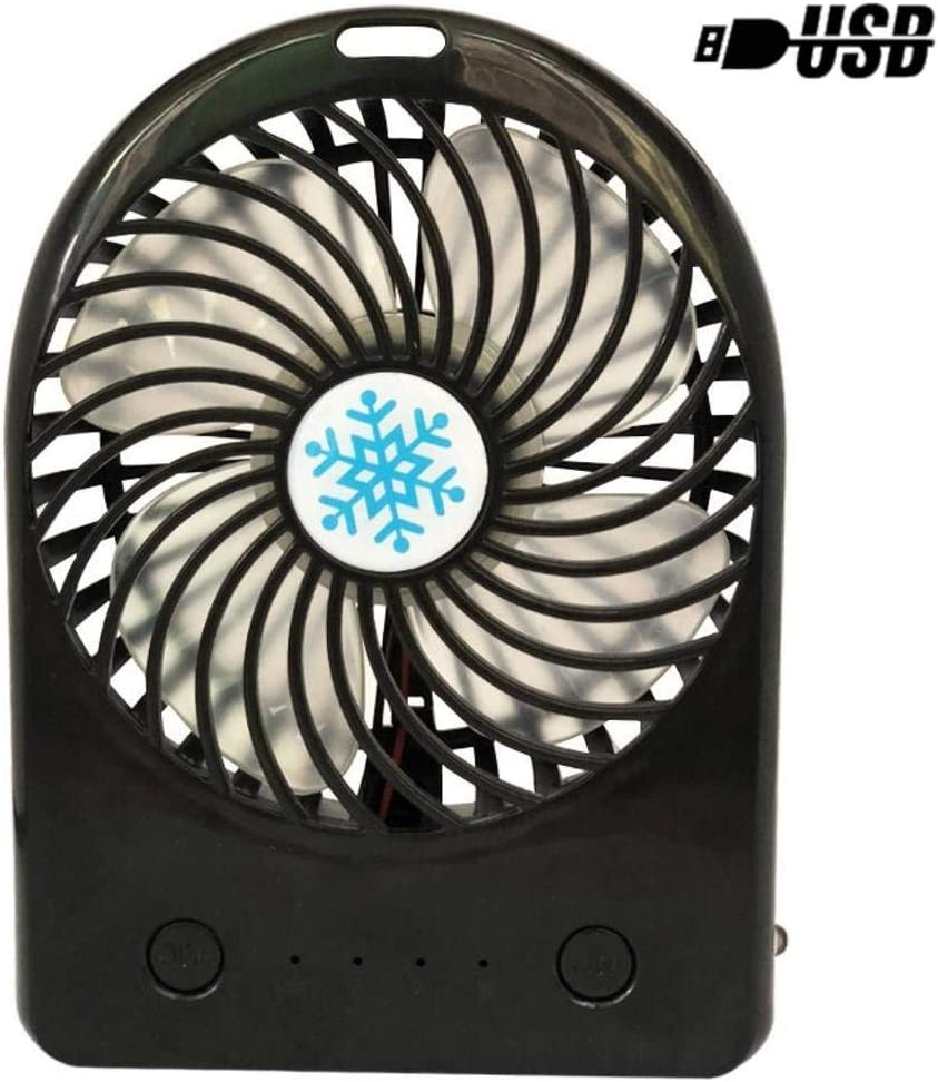 Standard Razeze Rechargeable Battery Operated Fan Portable USB Fan Quiet Silent USB Fan for Kids Girls Woman Home Office Outdoor Travel Black