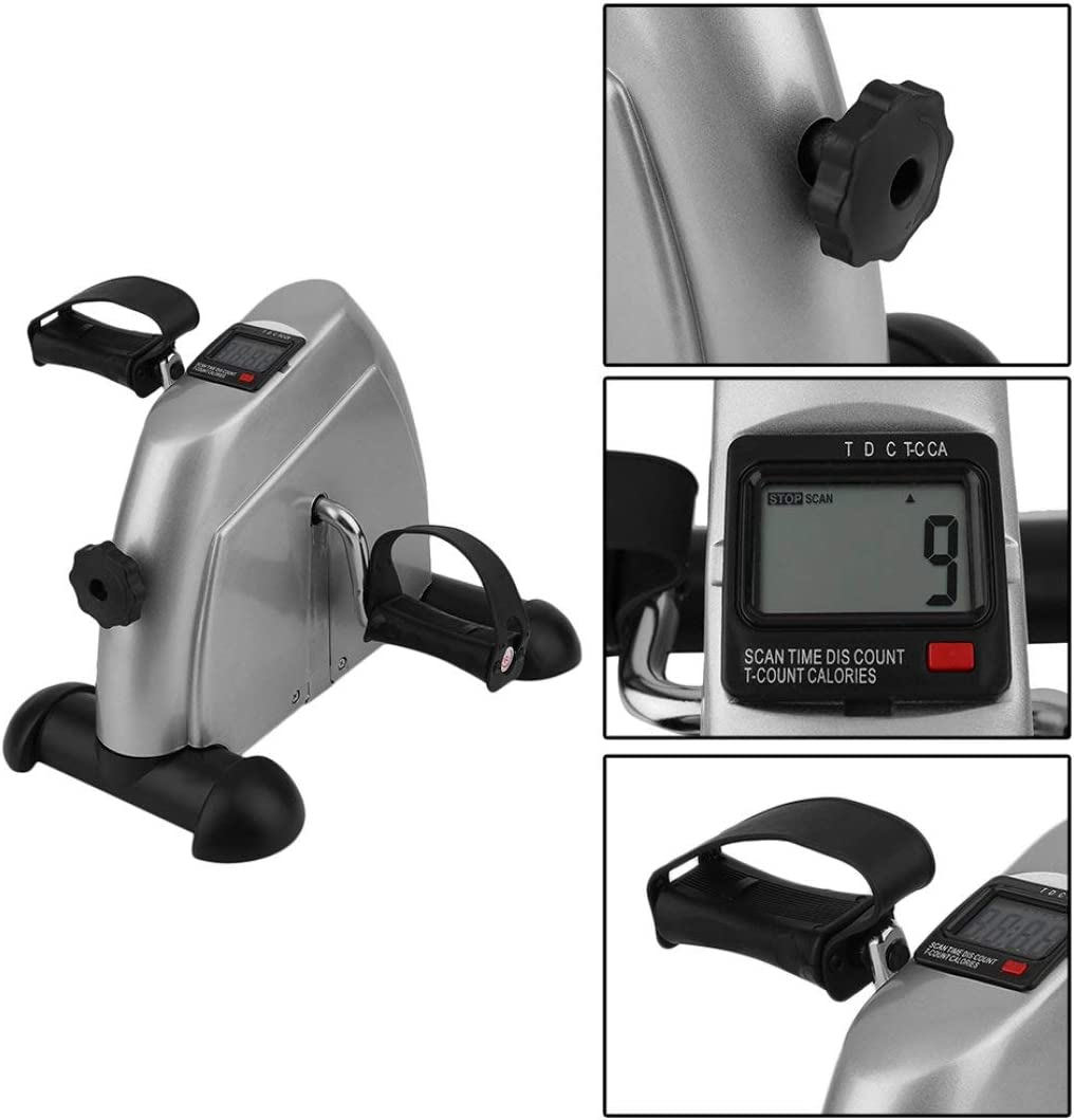 Swiftswan Home Exerciser Cycling Fitness Mini Pedal Exercise Bike LCD Display Indoor Cycling Bike Stepper For The Aged And Young