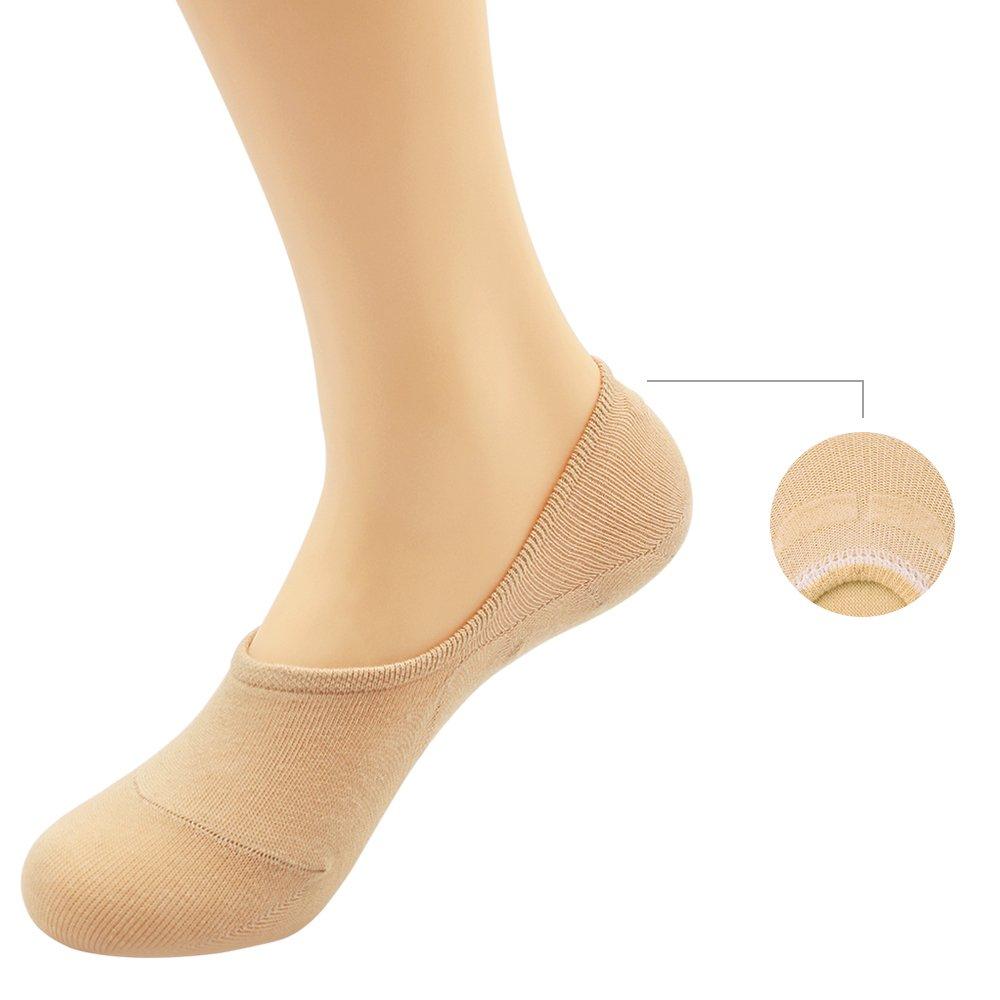 Womens 3-9 Pairs Casual Thin No Show Socks Non Slip Flat Boat Line Ordenado
