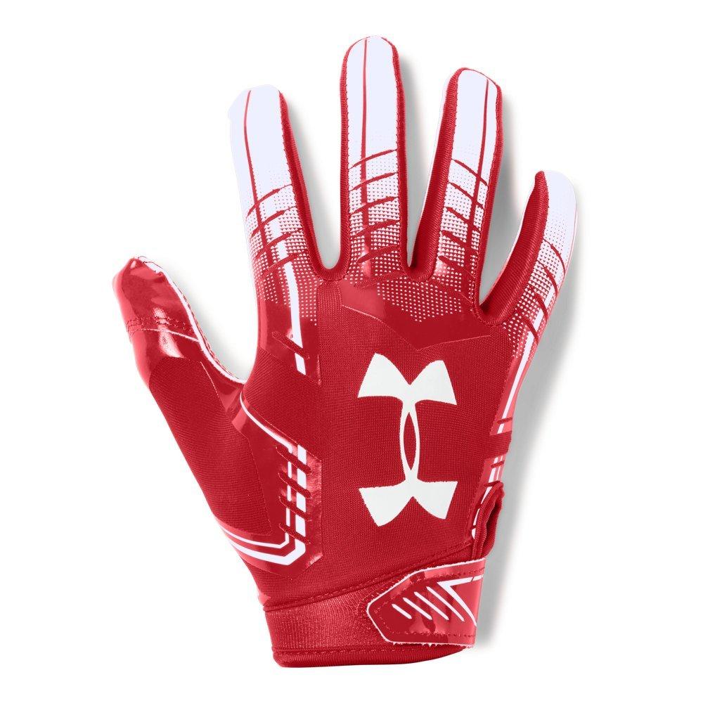 Under Armour Boys' F6 Youth Football Gloves, Red