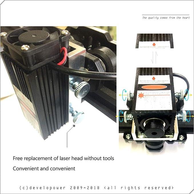 Máquina de Grabado Industrial Cnc Gravure Engraving Computadora de Escritorio Pequeña Máquina de Corte Totalmente Eléctrica Eléctrica Plotter DIY Figura LOGO Máquina de Marcado,10000mw: Amazon.es: Bricolaje y herramientas
