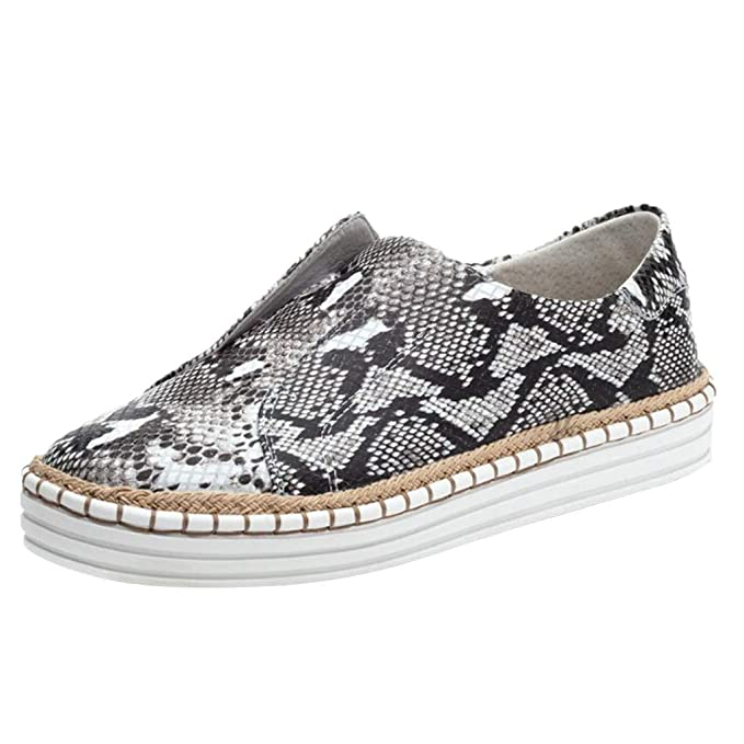 Amazon.com: QueenMMĖ 2019 Leopard Impreso Zapatos Planos ...