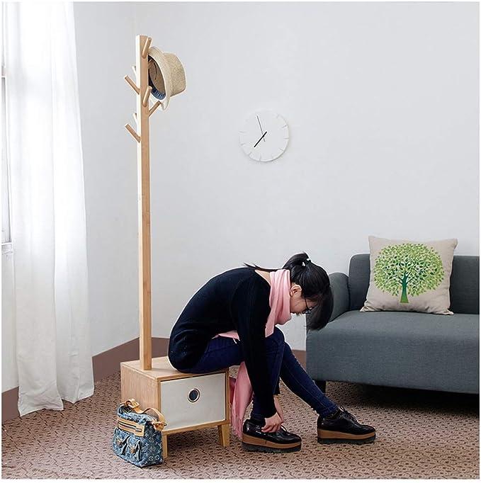 FU.YING Cajas y percheros para sombreros Perchero de bambú, Salón de múltiples Perchero funciones Abrigo de árbol Ropa Sombrero Estante Zapatos Banco Bufanda Ropa Bolsa Paraguas Sala de estar Dormitor: Amazon.es: Hogar