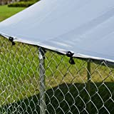 Giantex Large Pet Dog Run House Kennel Shade Cage Roof Cover Backyard Playpen (Kennel Cover, 7.5'x7.5')