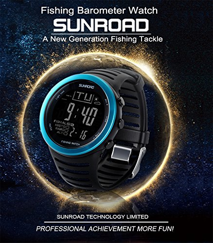 SUNROAD Fishing Watch FR720 Weather Forecast Fishing Place Record Barometer Altimeter Thermometer Backlight Digital Watch by YARUIFANSEN (Image #8)