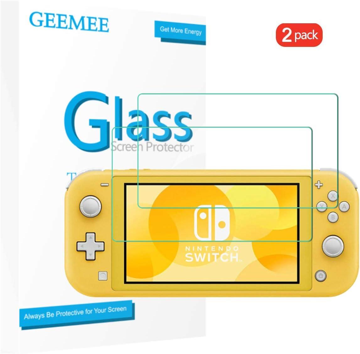GEEMEE (2 Pack para Nintendo Switch Lite Protector de Pantalla, Cristal Templado Película Vidrio Templado 9H Alta Definicion Glass Screen Protector Film (Transparente): Amazon.es: Electrónica