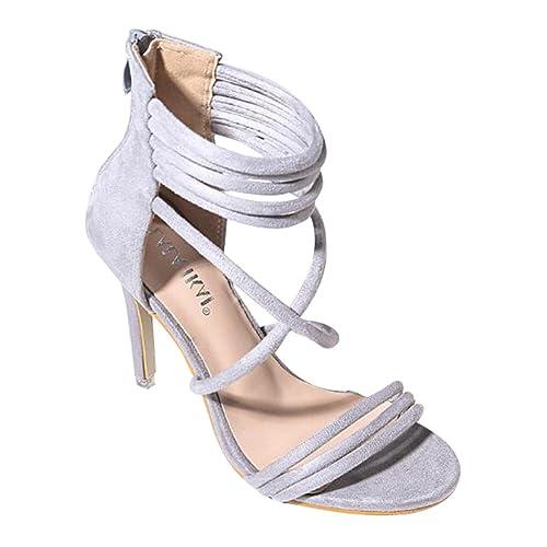 Juleya Frauen Sommer Sandalen Damen Kitten High Heel
