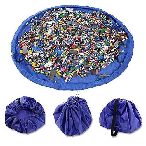 Time4Deals® 60 Zoll Kinder-Spielmatte und Spielzeug Storage Bag Portable organisieren faltbare Picknick Camping Matratze-Umhängetasche (Blau)
