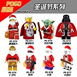 (US) New 8 Sets MiniFigures Super Heroes COS Christmas Santa Claus gift Bui